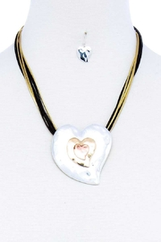 Nadya's Closet Triple Heart Necklace Set - Front cropped