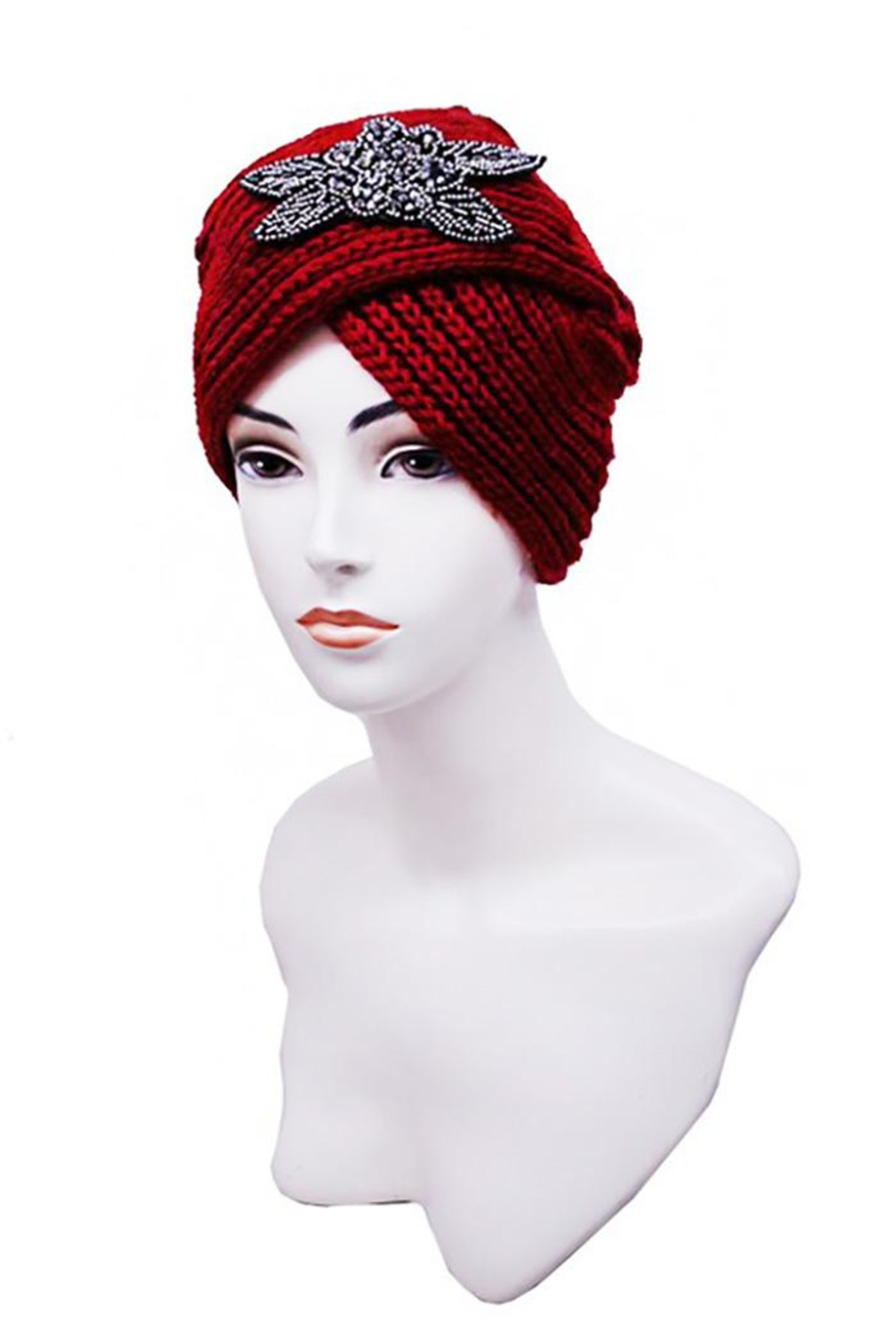 Nadya's Closet Turban Styled Beanie - Front Cropped Image