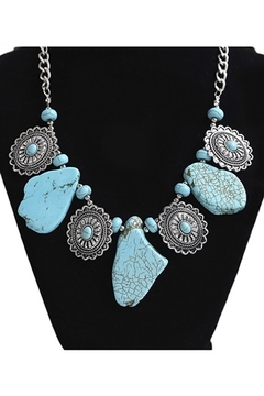Shoptiques Product: Turquoise Irregular Alloy Necklace