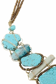 Nadya's Closet Turquoise Statement Necklace - Side cropped