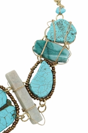Nadya's Closet Turquoise Statement Necklace - Back cropped