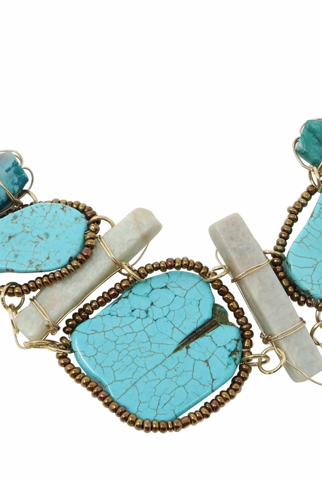 Nadya's Closet Turquoise Statement Necklace - Front Full Image