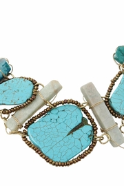 Nadya's Closet Turquoise Statement Necklace - Front full body