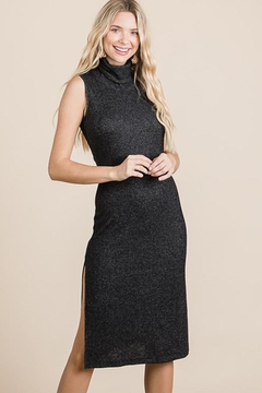 Nadya's Closet Turtleneck Sleeveless Midi Knit Dress - Alternate List Image