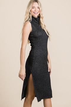 Nadya's Closet Turtleneck Sleeveless Midi Knit Dress - Product List Image
