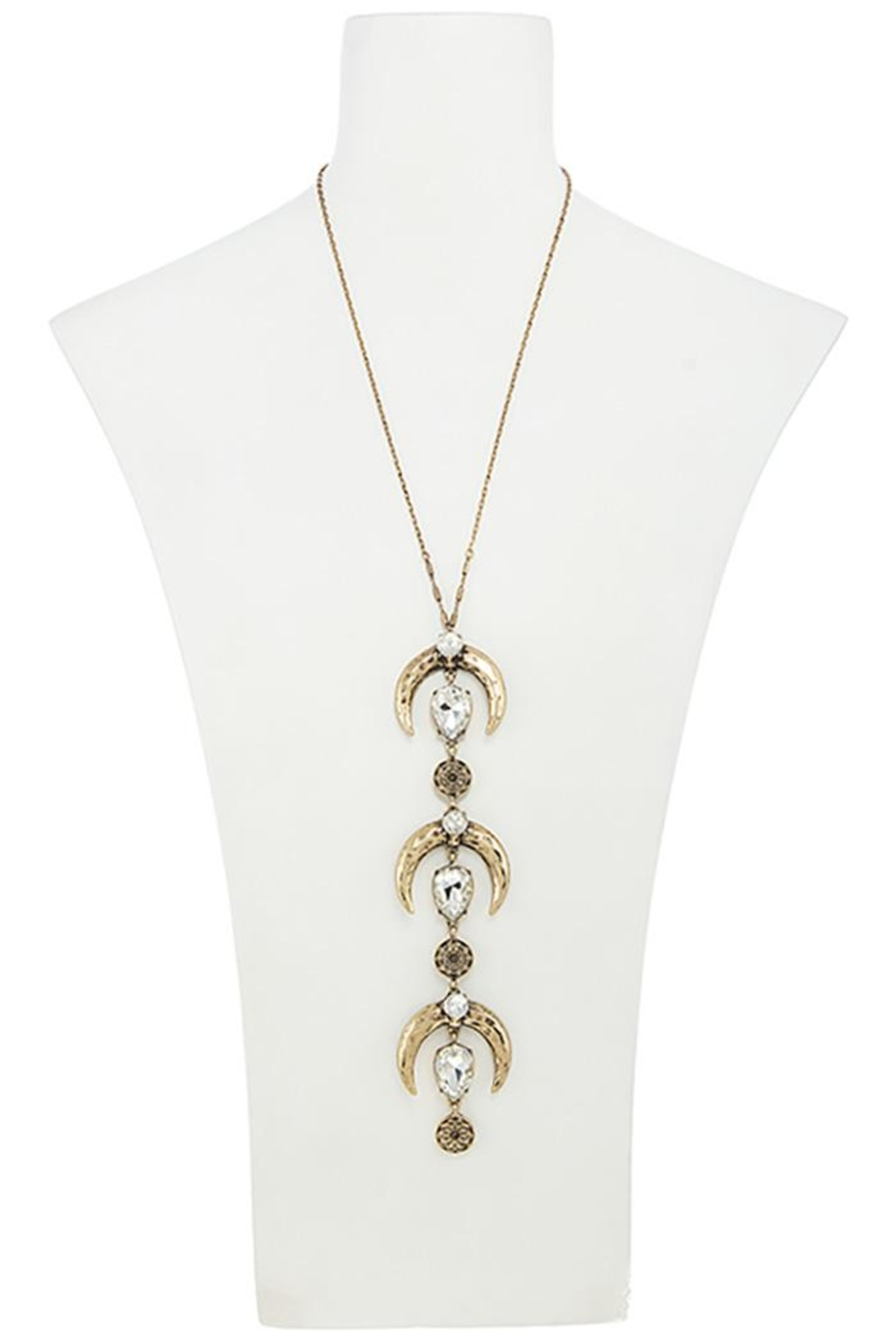 Nadya's Closet Tusks Trio Necklace - Side Cropped Image