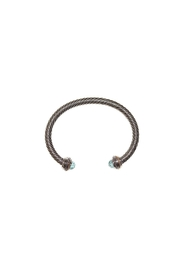 Nadya's Closet Twisted Silver Bracelet - Front cropped