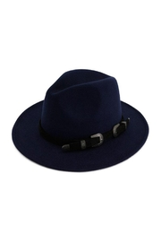 Nadya's Closet Two Buckle Black Belt Casual Panama Hat - Front cropped