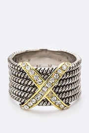 Nadya's Closet Two-Tone Zirconia Ring - Front cropped