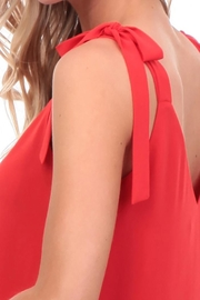 Nadya's Closet V-Neck Tie Tank - Back cropped