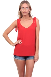 Nadya's Closet V-Neck Tie Tank - Front full body