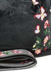 Nadya's Closet Velvet Floral Hobo - Front full body