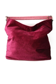 Nadya's Closet Velvet Floral Hobo - Back cropped
