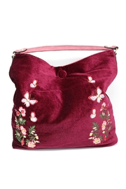 Nadya's Closet Velvet Floral Hobo - Side cropped