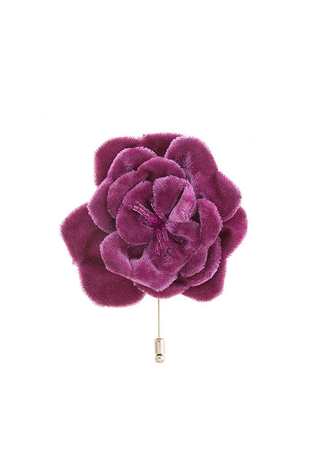 Genial Nadyau0027s Closet Velvet Floral Stick Pin   Front Cropped Image