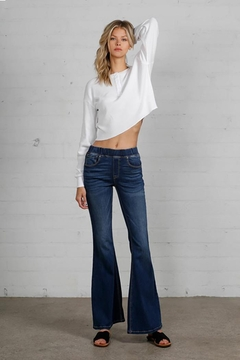 Shoptiques Product: Wide Elastic Banded Flare Jeans