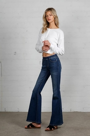 Nadya's Closet Wide Elastic Banded Flare Jeans - Side cropped