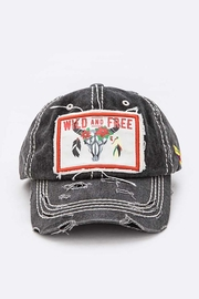 Nadya's Closet Wild And Free Patch Vintage Cotton Cap - Front cropped