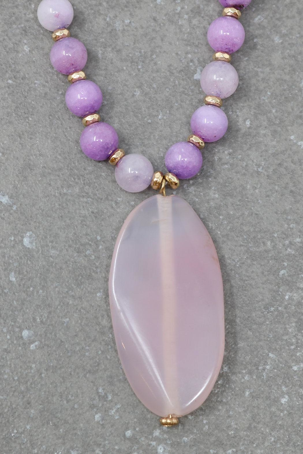 Nadya's Closet Zamora Semi-Precious Necklace - Front Full Image