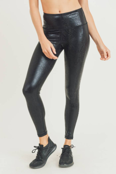 Shoptiques Product: Nagini Snake Foil Print Leggings