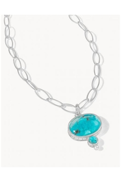 Shoptiques Product: Naia Chunky Turquoise SIL Necklace 18'