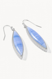 Spartina 449 Naia Marquise Earrings Blue SIL - Front cropped