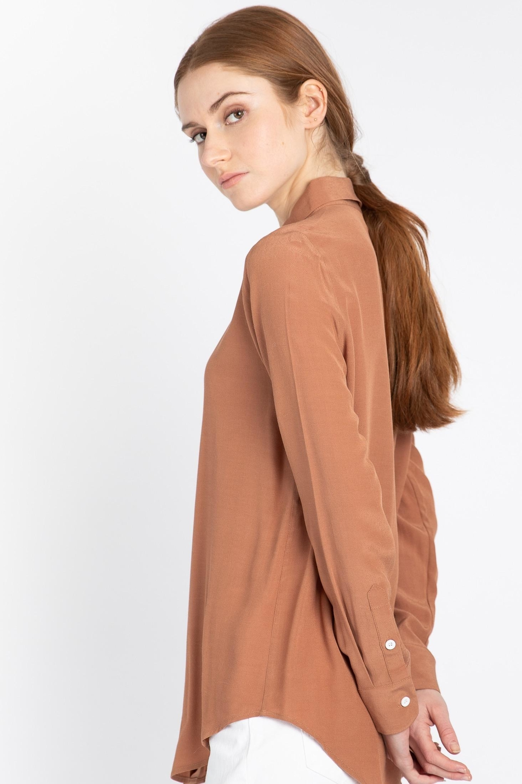 Naif Montreal Carvello Terracotta Blouse - Side Cropped Image