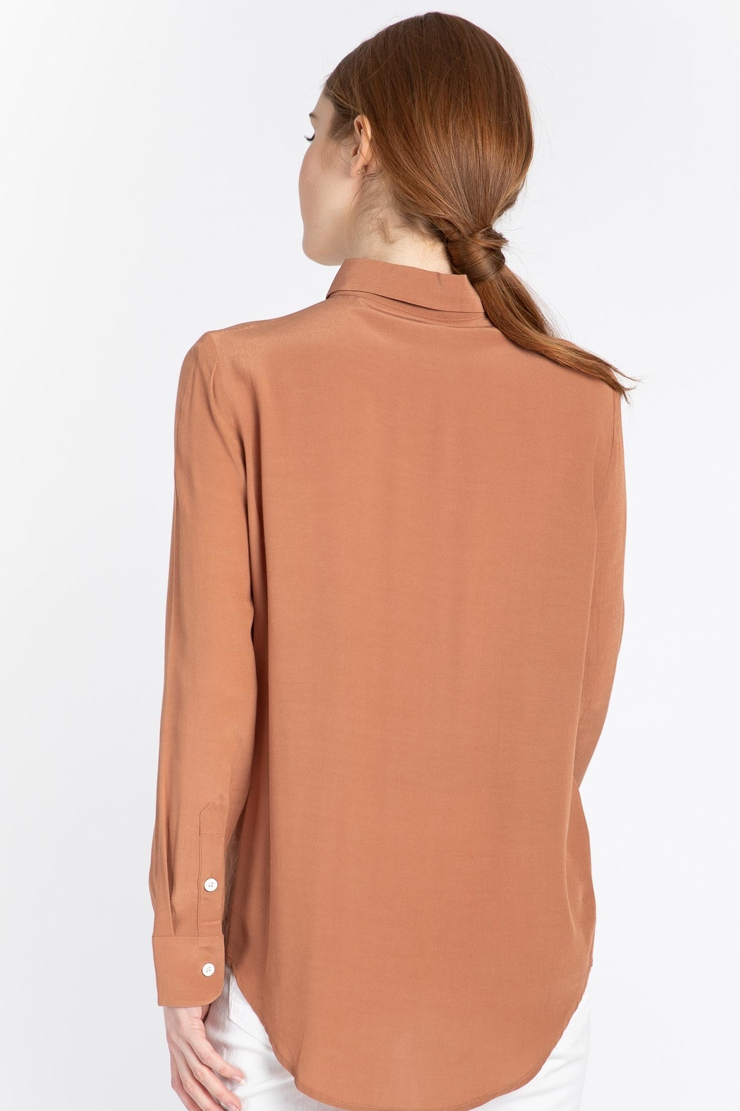 Naif Montreal Carvello Terracotta Blouse - Back Cropped Image