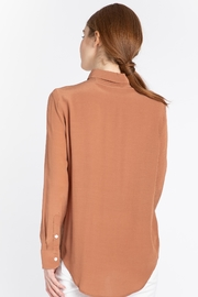 Naif Montreal Carvello Terracotta Blouse - Back cropped