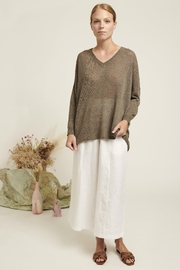 Naif Montreal Relaxed Linen Sweater - Front full body