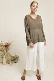 Naif Montreal Relaxed Linen Sweater - Back cropped