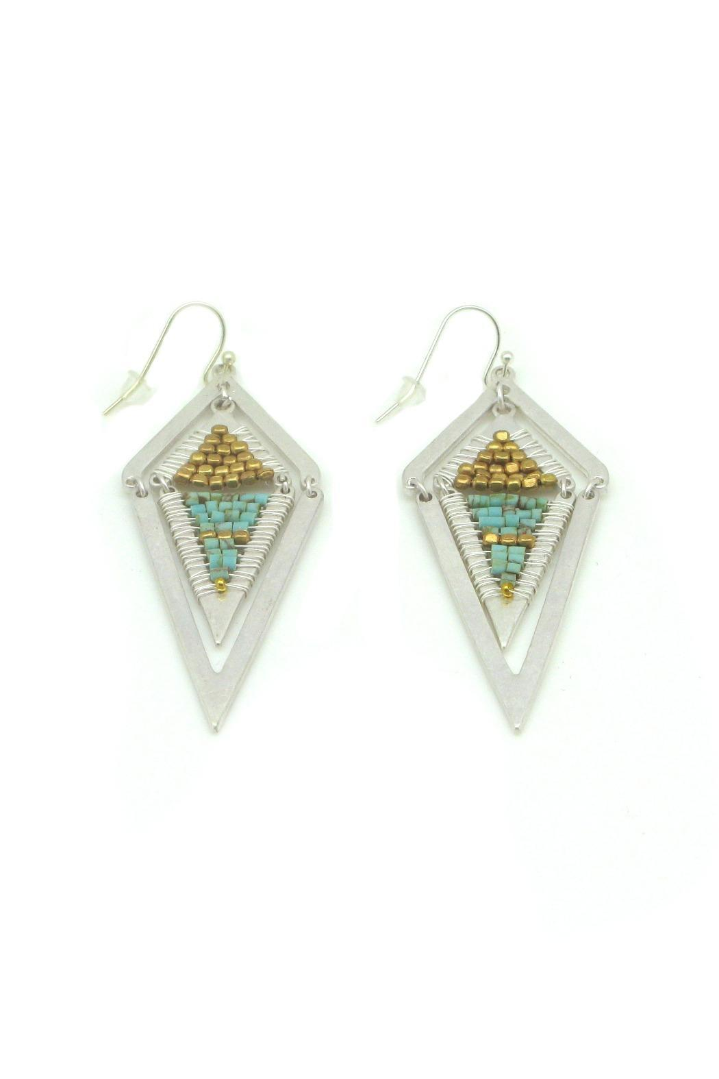Nakamol Geometric Turquoise Earrings - Front Cropped Image