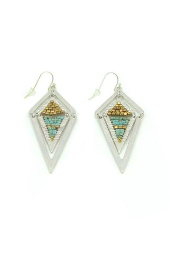 Nakamol Geometric Turquoise Earrings - Main Image