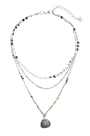 Nakamol Layered Labradorite Necklace - Front cropped