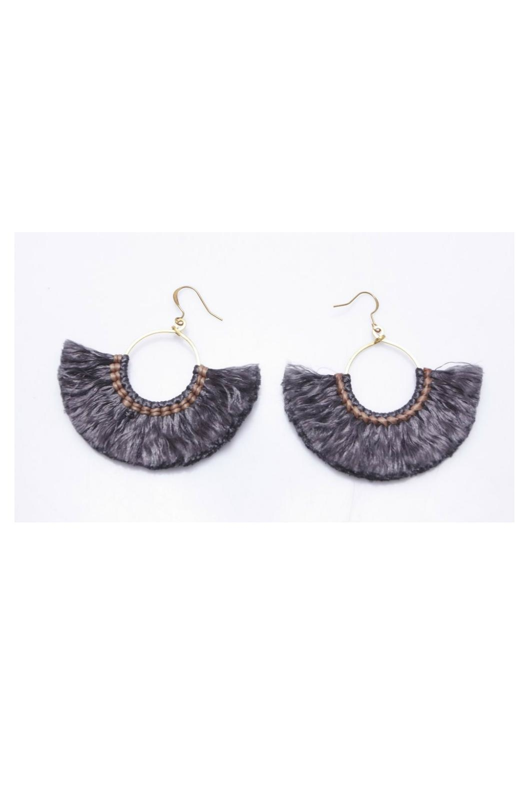 Nakamol Lolita Fringe Earrings - Front Cropped Image