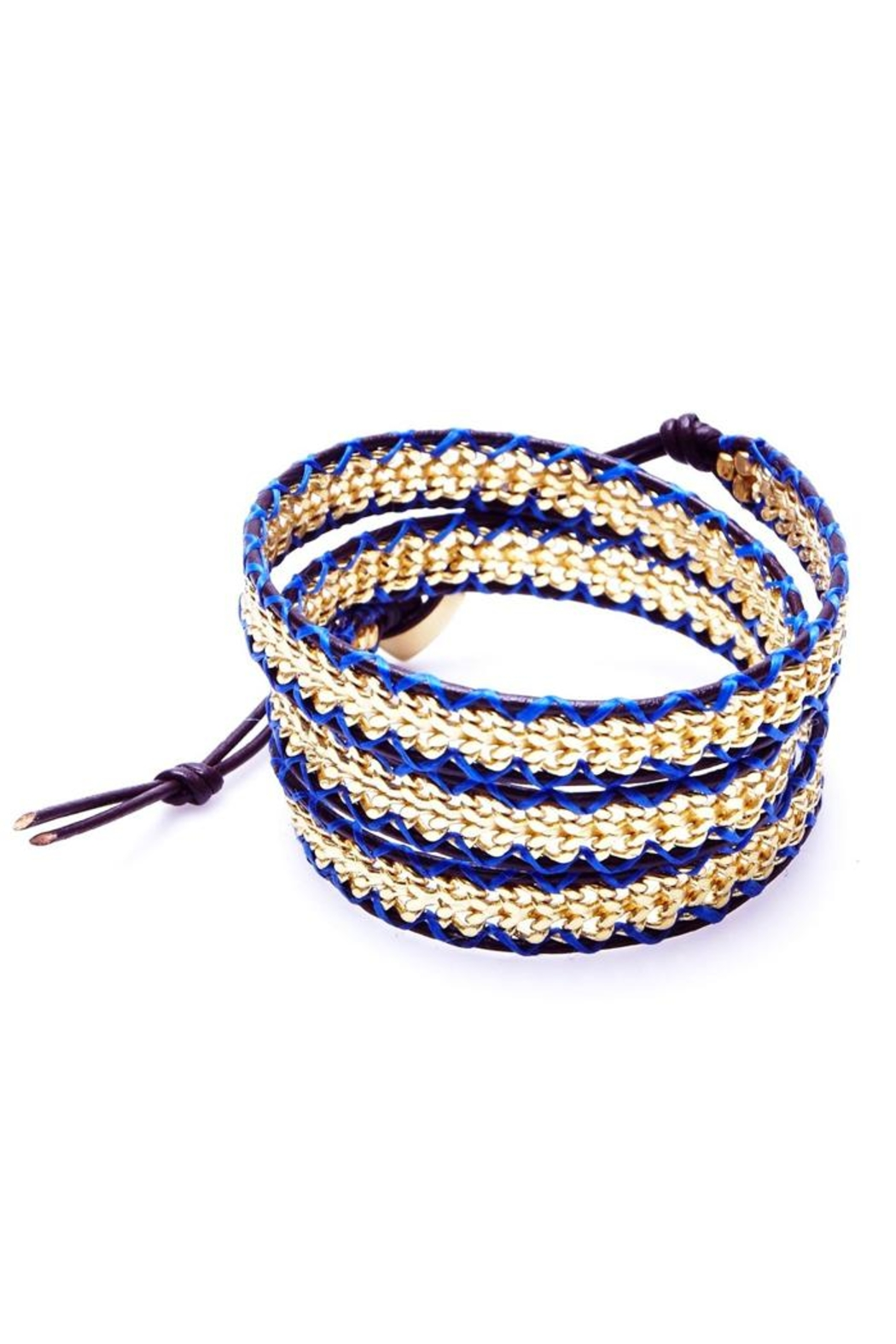 Nakamol Woven Gold Wrap Bracelet Front Cropped Image