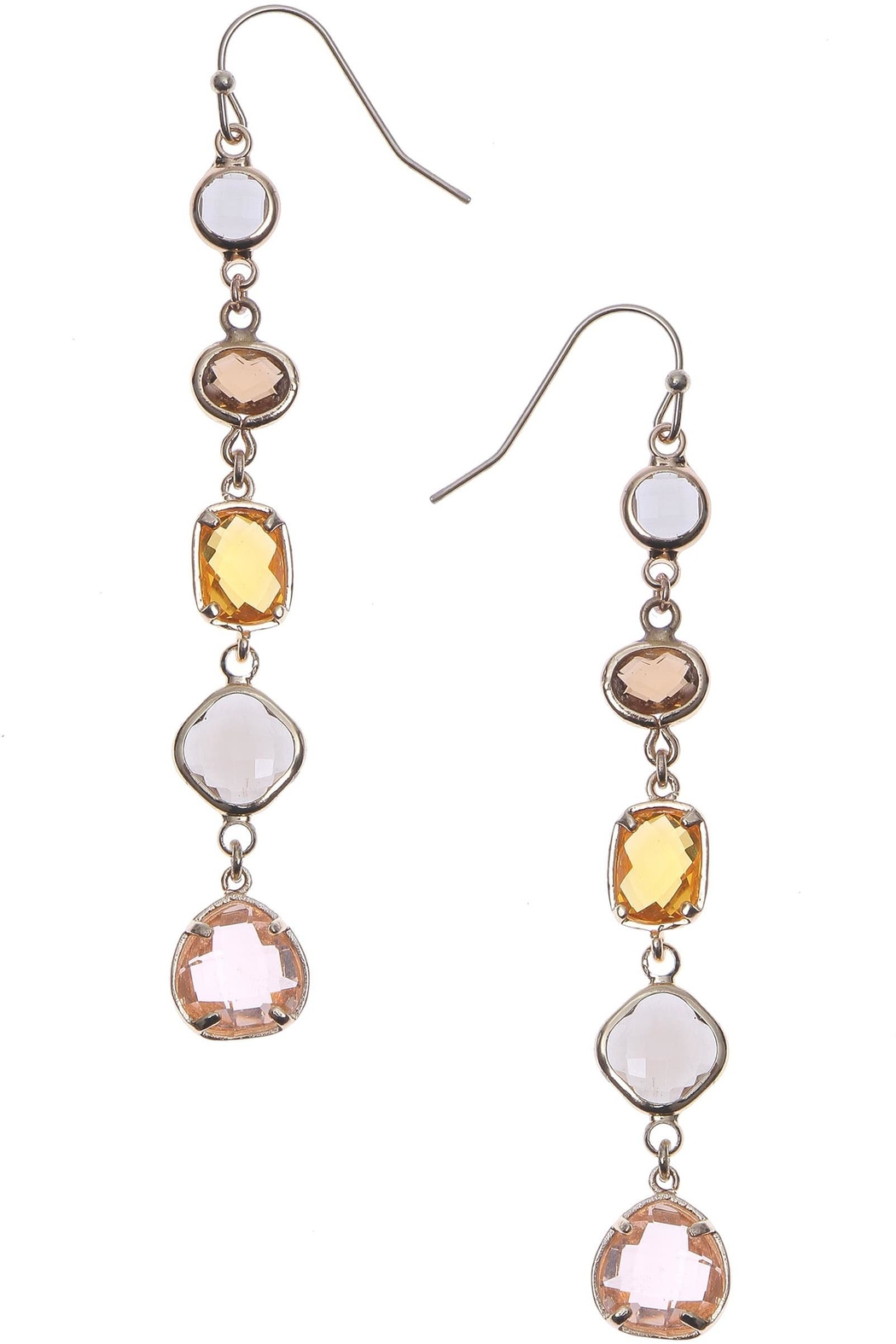 NAKAMOL CHICAGO 5 Crystal Drop Earrings - Main Image