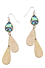 NAKAMOL CHICAGO Abalone And Brass Dangle Earrings - Front cropped