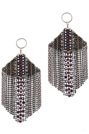 NAKAMOL CHICAGO Chain Rhinestone Drop Earrings - Front cropped