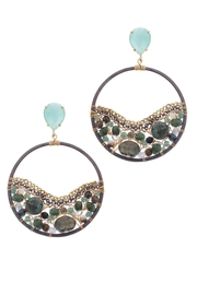 NAKAMOL CHICAGO Circling Emerald Earrings - Front cropped