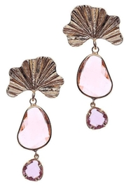 NAKAMOL CHICAGO Dayanara Golden Crystal Earrings - Front cropped