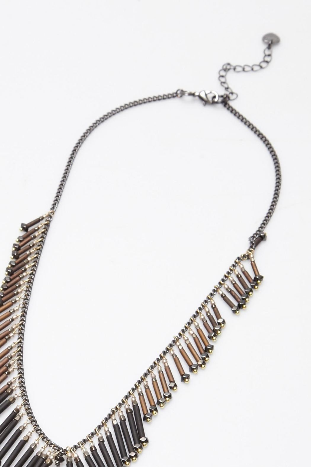 NAKAMOL CHICAGO Fringe Lariat Necklace - Side Cropped Image