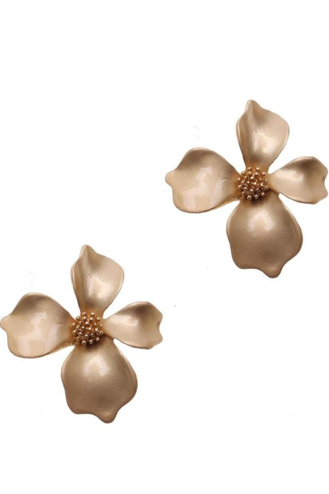 NAKAMOL CHICAGO Gold Flower Earrings - Front Cropped Image