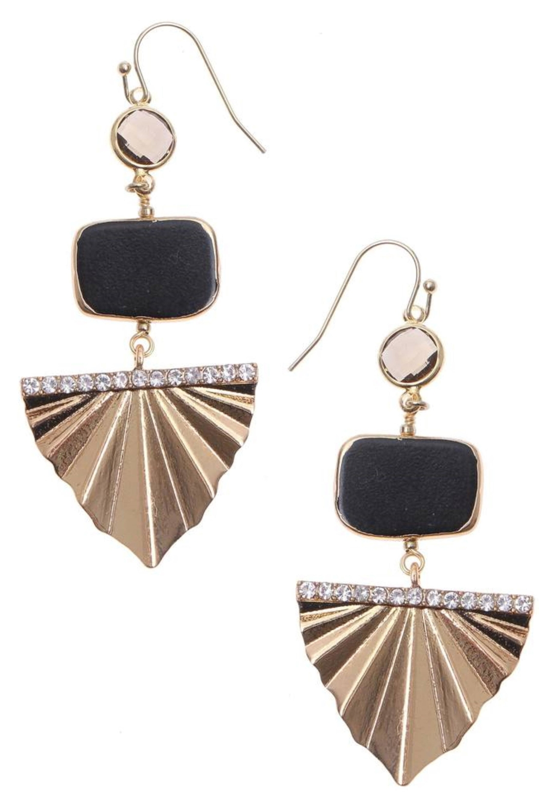NAKAMOL CHICAGO Golden Deco Earrings - Front Cropped Image