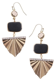 NAKAMOL CHICAGO Golden Deco Earrings - Front cropped