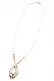 NAKAMOL CHICAGO Pink Stone Necklace - Front cropped