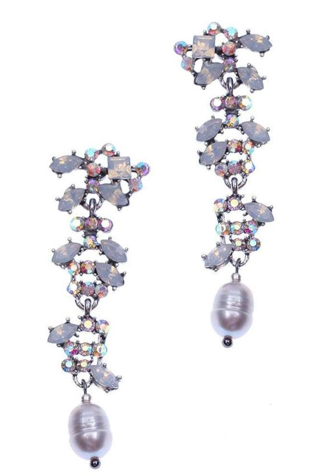NAKAMOL CHICAGO Plankova Rhinestone Earrings - Main Image