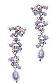 NAKAMOL CHICAGO Plankova Rhinestone Earrings - Front cropped
