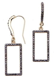 NAKAMOL CHICAGO Rhinestone Rectangle Earringss - Front cropped
