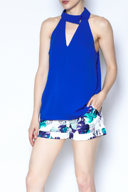 Naked Zebra Collared Cobalt Tank - Front cropped